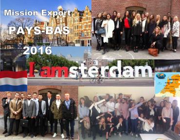 BTS CI : une délégation de nos étudiants en mission au Pays Bas : Bravo à eux !