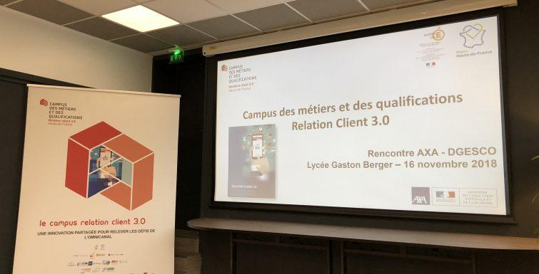 Gaston Berger reçoit la direction nationale du groupe Axa, une délégation ministérielle, la rectrice de l'académie de Lille et ses proches collaborateurs.