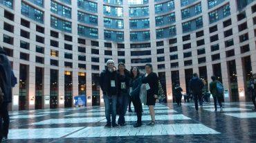 Des élus élèves et étudiants au Parlement Européen à Strasbourg