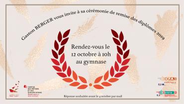 CEREMONIE DE REMISE DE DIPLÔMES BTS ET BAC 2019 !