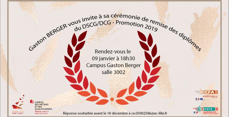 CEREMONIE DE REMISE DE DIPLÔMES DCG/DSCG 2019 !